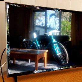 Gister zag ik deze weerspiegeling van de Giant in mijn tv, vond het wel wat hebben!