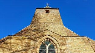 Symmetrie bij de kerk van Oene
