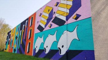 Kleurrijke muur in Deventer